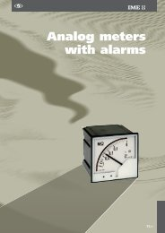 Analog meters with alarms - Ime