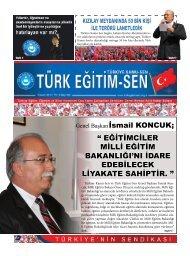 """Genel Başkanİsmail KONCUK; """" EĞİTİMCİLER ... - Türk Eğitim-Sen"""