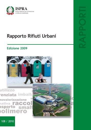 rapporto rifiuti ispra 2009