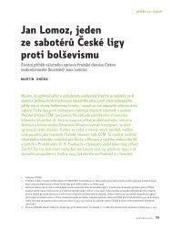 Jan Lomoz, jeden ze sabotérů České ligy proti bolševismu. Životní ...