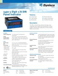 1490 5 Digit 1/8 DIN Panel Indicator