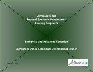 Community and Regional Economic Development Funding Programs