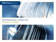 PMG Zitate-Ranking 1. Halbjahr 2013 Ergebnisse im Überblick