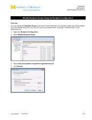 Modify Recipient Scope Using the Recipient Configuration