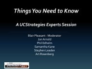 Things You Need to Know - UCStrategies.com