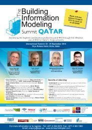 The Building Information Modeling Summit Qatar - architects24.com