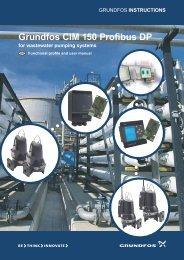 INSTRUCTIONS Grundfos CIM 150 Profibus DP for wastewater ...