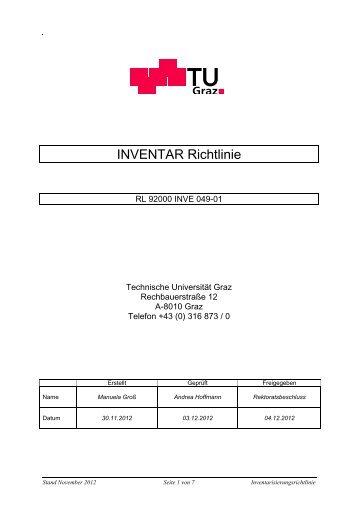 Inventarisierungsrichtlinie - mibla.TUGraz.at