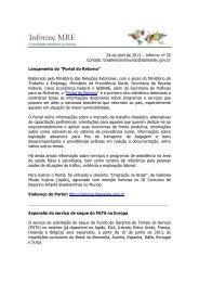 Informe MRE 32 - Brasileiros no Mundo - Ministério das Relações ...
