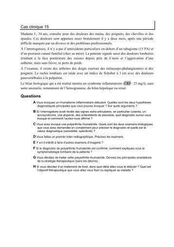 Cas clinique 15 - UMVF