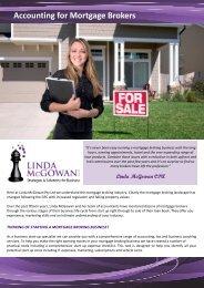 Accounting for Mortgage Brokers - Linda McGowan Accountants