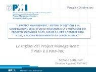 Le ragioni del Project Management: il PMI® e il PMI®-NIC - PMI-NIC