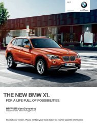 THE NEW BMW X.