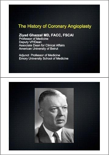 The History of Coronary Angioplasty