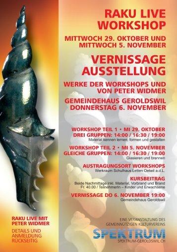 raku live workshop vernissage ausstellung - Spektrum Geroldswil