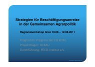 Referat PECO - Projektziel - Broschüre GAP Projekte