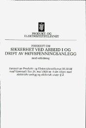 Forskrift om sikkerhet ved arbeid i og drift av høyspenningsanlegg ...