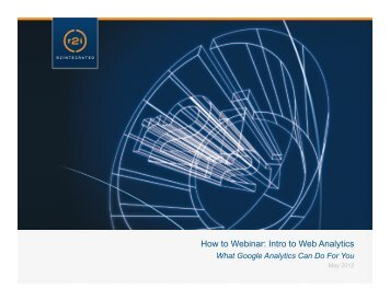 How To Webinar: Intro to Web Analytics - AMADC
