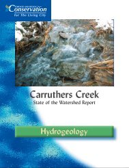 Hydrogeology - Toronto and Region Conservation Authority