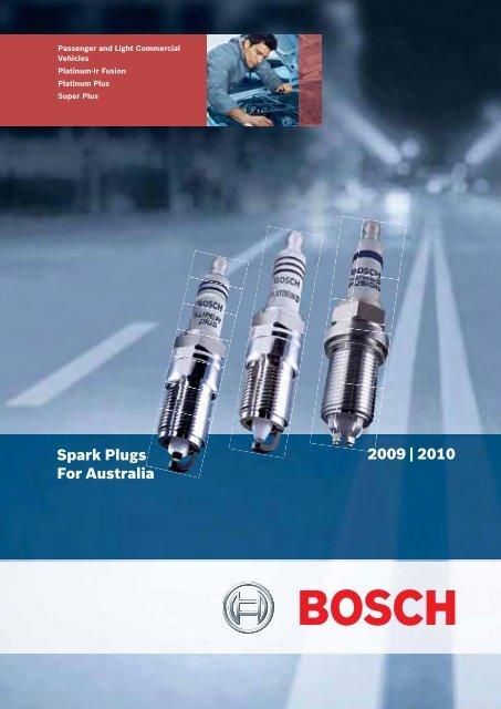 BOSCH SUPER PLUS SPARK PLUG SET 4 FOR SUBARU MV 11.84-12.94 1.8L EA81