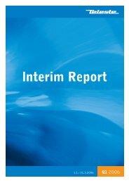 Interim report 2006 January - March - Teleste