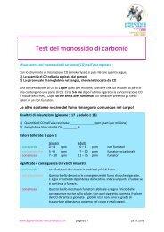 Test del monossido di carbonio - Rauchfreie Lehre