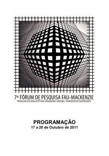 caderno de programação - Universidade Presbiteriana Mackenzie