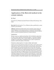Application of the Rietveld method in the cement industry - Institut für ...