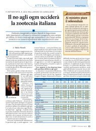 Il no agli ogm ucciderà la zootecnia italiana - L'Informatore Agrario