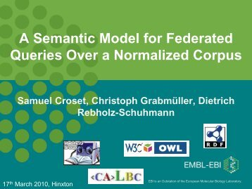 A Semantic Model for Federated Queries Over a Normalized Corpus