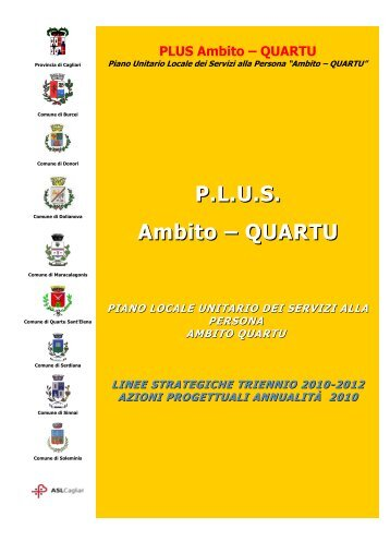 PLUS Quartu 2010 - 2012 - Sociale - Provincia di Cagliari
