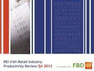 REI Irish Retail Industry Productivity Review Q4 2012