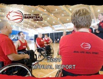 2009 ANNUAL REPORT - Wheelchair Basketball Canada