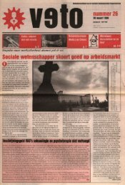 nummer 26 Sociale wetenschapper skoort ... - archief van Veto