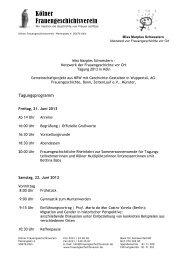 Tagungsprogramm 2013 - Kölner Frauengeschichtsverein