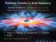 Radiative Transfer in Axial Symmetry