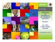 Director: Lic. Juan Carlos Vargas Murueta - Sectur