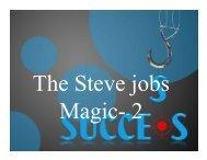 The Steve Jobs magic 2