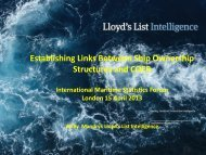 Establishing Links Between Ship Ownership Structures and ... - IMSF