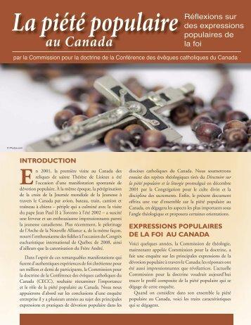 La piété populaire - Conférence des évêques catholiques du Canada