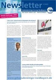Newsletter März 05 - Gebäudereiniger-Innung Nordbayern