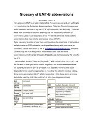 Glossary of EMT-B abbreviations
