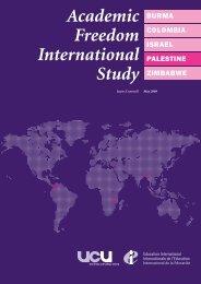 Academic Freedom International Study - UCU