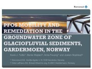 pfos mobility and remediation in the groundwater zone of ... - Nordrocs