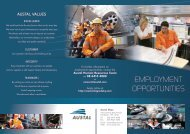 EMPLOYMENT OPPORTUNITIES - Austal Ships