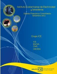 III Trimestre 2011 - Grupo ICE