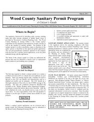 A Citizen's Guide to Sanitary Permits - Wood County Courthouse