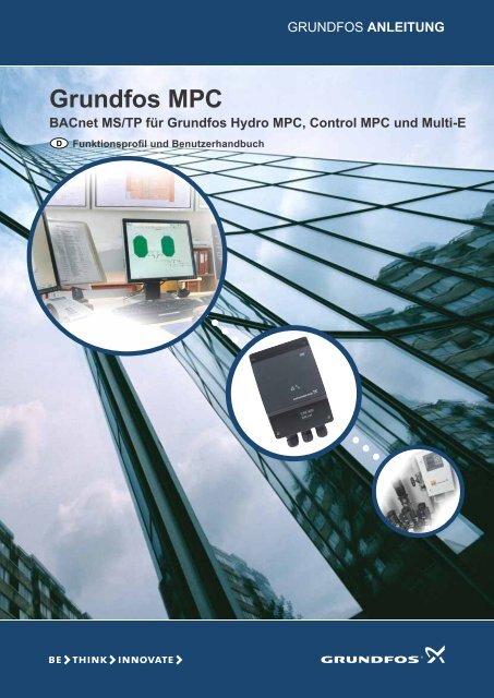 ANLEITUNG Grundfos MPC BACnet MS/TP für Grundfos Hydro ...