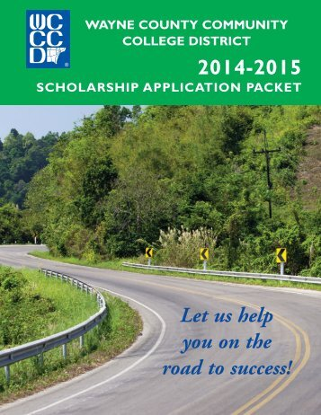 scholarship application packet - Wayne County Community College