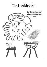 Tintenklecks Juli 2011 (PDF) - Albert-Schweitzer-Grundschule